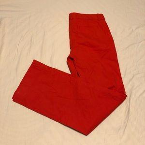 J. Crew Addison Red Chino Trouser Pants